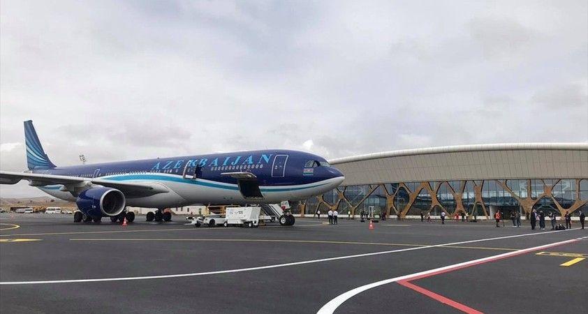 Azerbaycan'ın Fuzuli kentinde inşa edilen havalimanına test uçuşları sürüyor