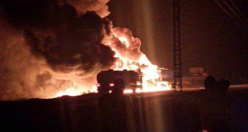 El Bab'ta akaryakıt istasyonunda patlama