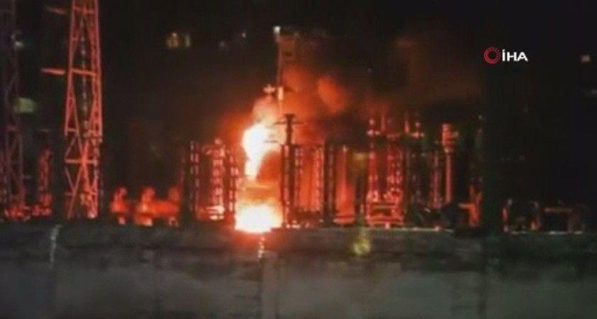Ukrayna'da termik santralde yaşanan patlamaya ilişkin yeni görüntüler ortaya çıktı