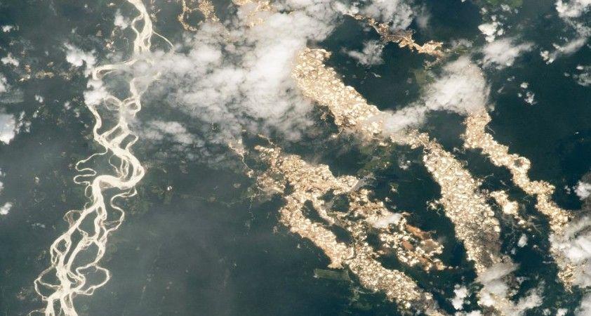 NASA yayınladığı fotoğraflarla Amazon'un 'altın nehirlerini' ortaya çıkardı