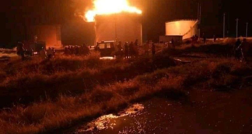 Musul'da petrol rafinesinde büyük yangın