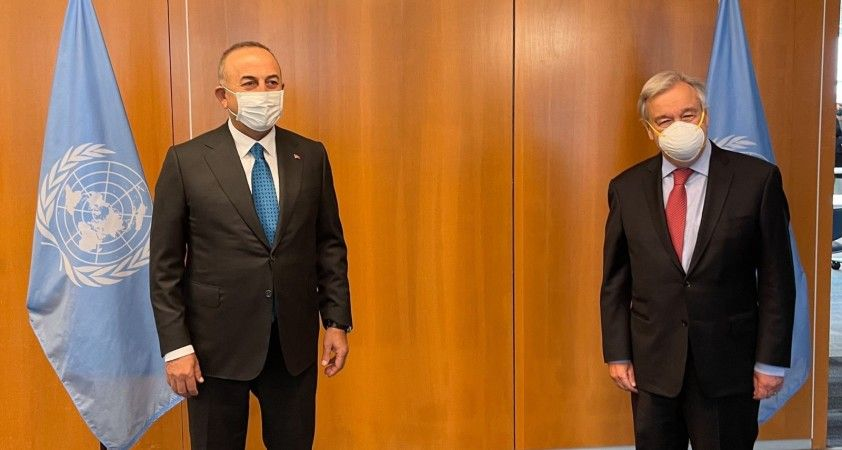 Dışişleri Bakanı Çavuşoğlu, BM Genel Sekreteri Guteres ile görüştü