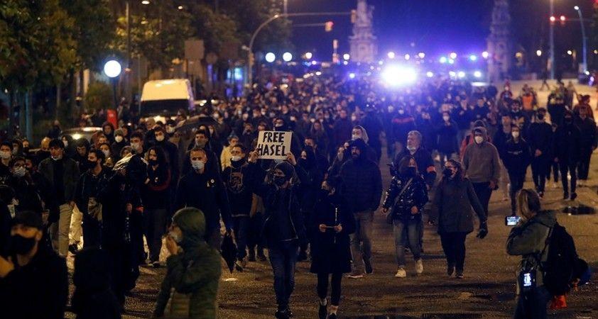 İspanya'da rapçi Hasel'in tutuklanmasına karşı protestolar 7'nci gününde