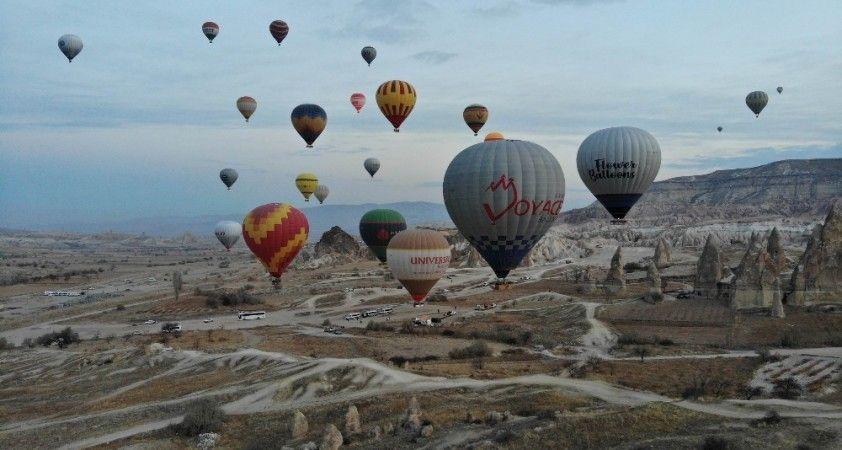 Kapadokya Bölgesini Ocak ayında 42 bin 560 turist ziyaret etti