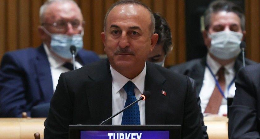 Bakan Çavuşoğlu, İİT üyesi ülkelerin dışişleri bakanları ile Filistin'i görüştü