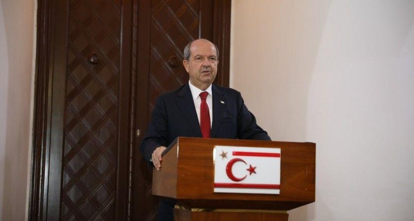 KKTC Cumhurbaşkanı Tatar, Anastasiadis ile görüşmesinin ardından açıklamalarda bulundu