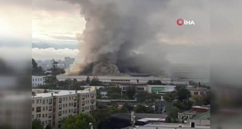 Brezilya'daki Dünya Kupası stadı alev alev yandı