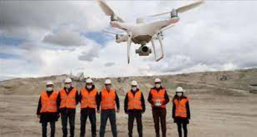Maden sahalarında 'drone' ile denetim dönemi başladı