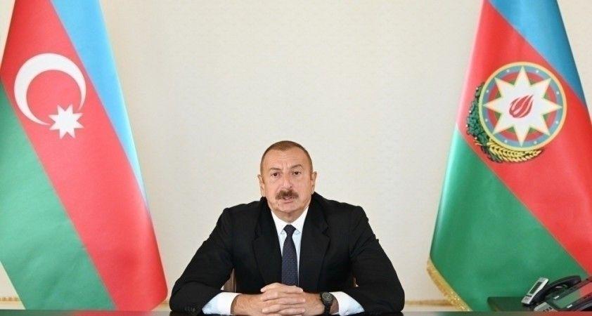 """Aliyev: """"Enerji ve ulaşım projeleri bölgenin siyasi, ekonomik, ulaşım ve enerji haritalarını değiştirdi"""""""