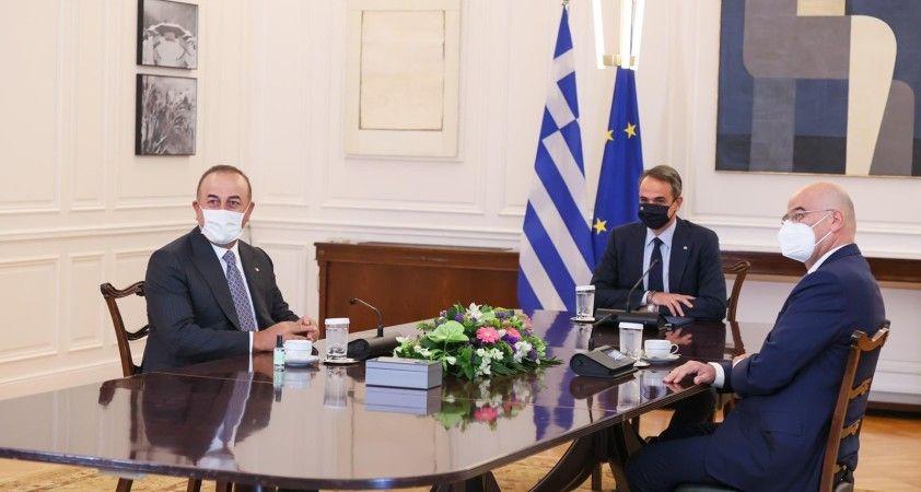 Çavuşoğlu, Yunanistan Başbakanı Miçotakis ile görüştü