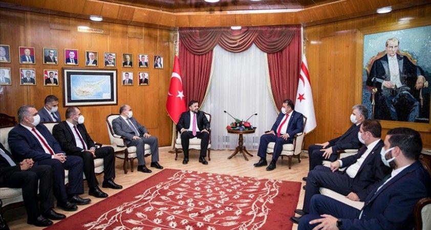 KKTC Başbakanı Saner Cumhurbaşkanlığı Dijital Dönüşüm Ofisi Başkanı Koç'u kabul etti
