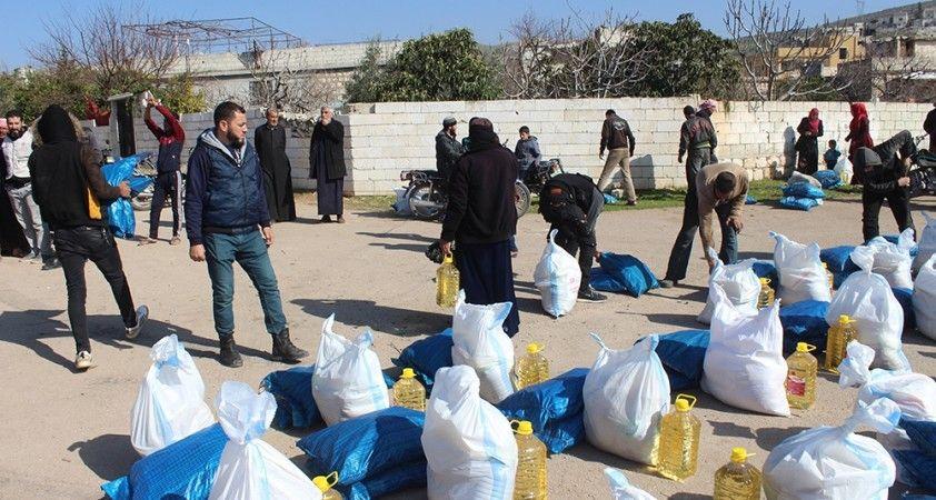 Türk yardımseverlerden Suriyelilere yardım