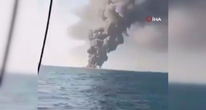 İran donanmasına ait Umman Denizi'nde batan gemide 33 mürettebat yaralandı