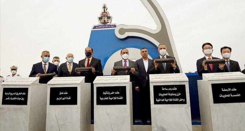 Irak Başbakanı, ülkesiyle bölgesi arasında 'konomik köprü kuracak' Büyük Fav Limanı'nın temelini attı