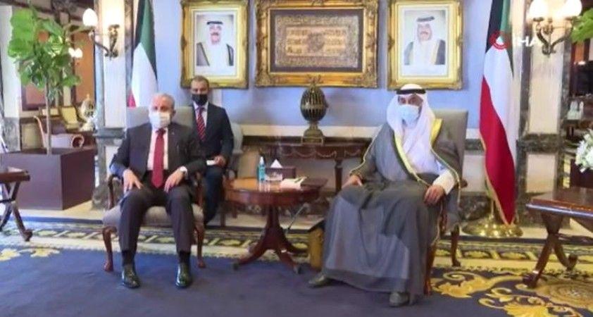 TBMM Başkanı Şentop, Kuveyt Başbakanı Es-Sabah ile görüştü
