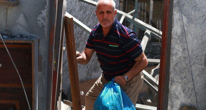 Gazze'de 16 kişilik aile evsiz kaldı