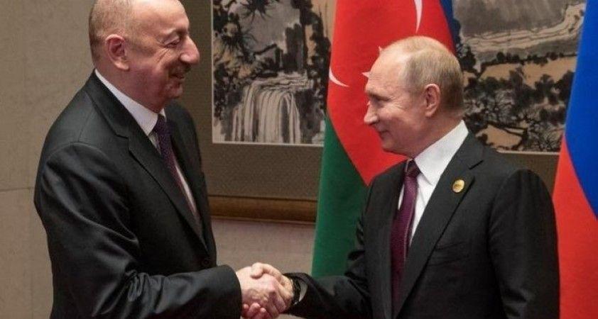 Azerbaycan Cumhurbaşkanı Aliyev, Rusya Devlet Başkanı Putin bir araya geldi