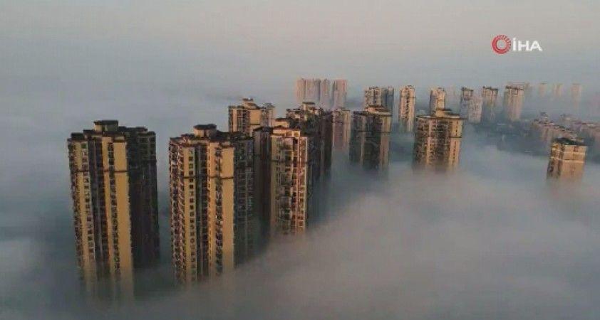 Çin'de sis manzarası hayran bıraktı