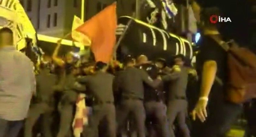 İsrail polisi ile protestocular arasında çatışma