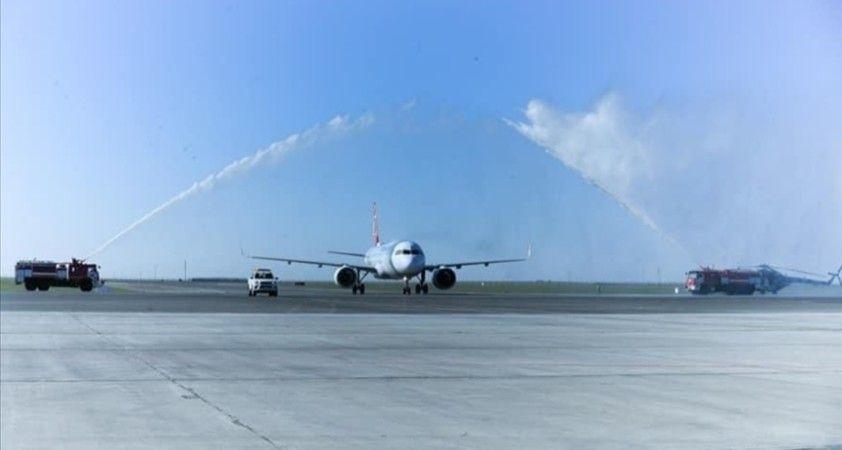 THY, Türkistan'a ilk uçuşunu yaptı