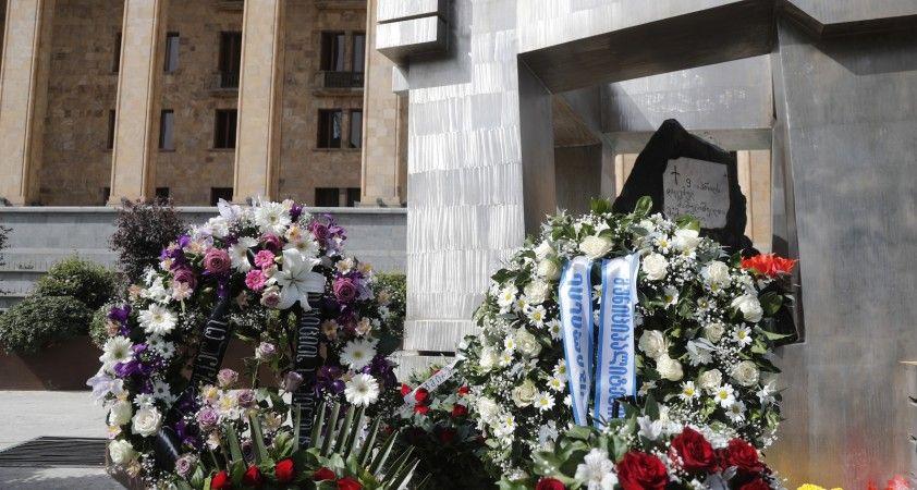 Gürcistan'da bağımsızlık mücadelesinde hayatını kaybedenler törenle anıldı