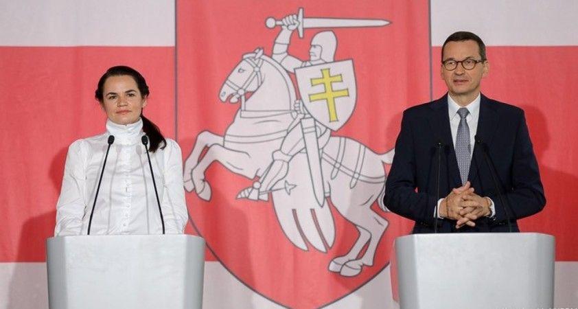 """Tikhanovskaya: """"Lukaşenko'nun meşruiyeti kalmadı, yeni seçimler şart"""""""