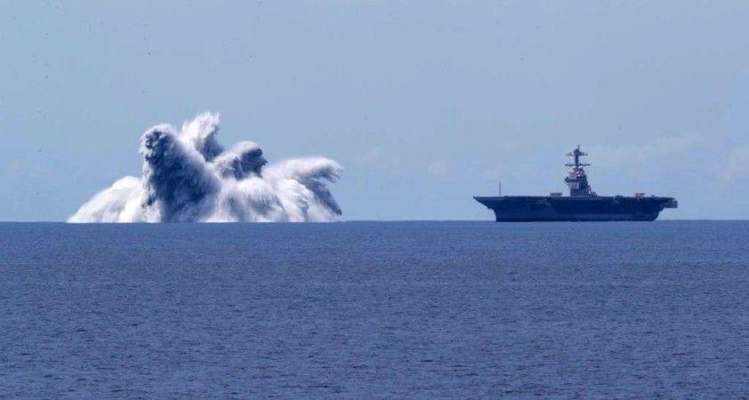 ABD'de deprem gibi uçak gemisi şok testi