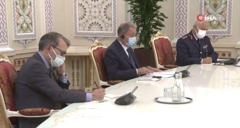 Milli Savunma Bakanı Akar, Tacikistan Cumhurbaşkanı Rahman ile görüştü
