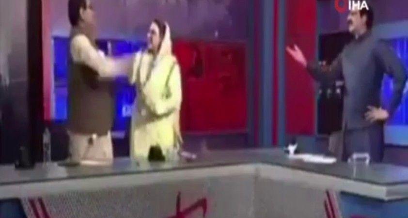Pakistanlı eski bakandan milletvekiline canlı yayında tokat