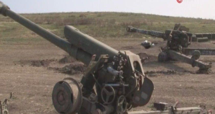 Ermenistan askerlerinin kaçarken bıraktığı askeri teçhizat görüntülendi