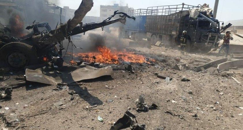 Halep'te bomba yüklü araç patladı: 7 yaralı