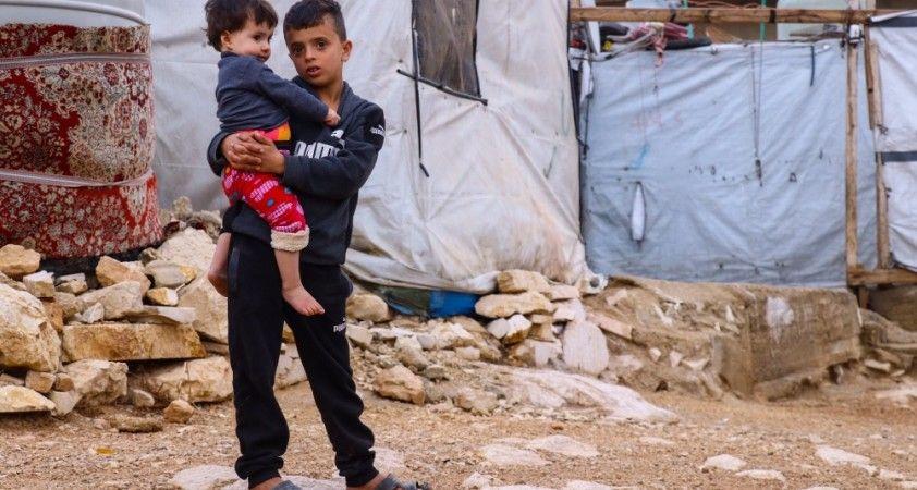 Dondurucu soğuklarda Lübnan'daki Suriyelilerin zor koşullarla yaşam mücadelesi sürüyor