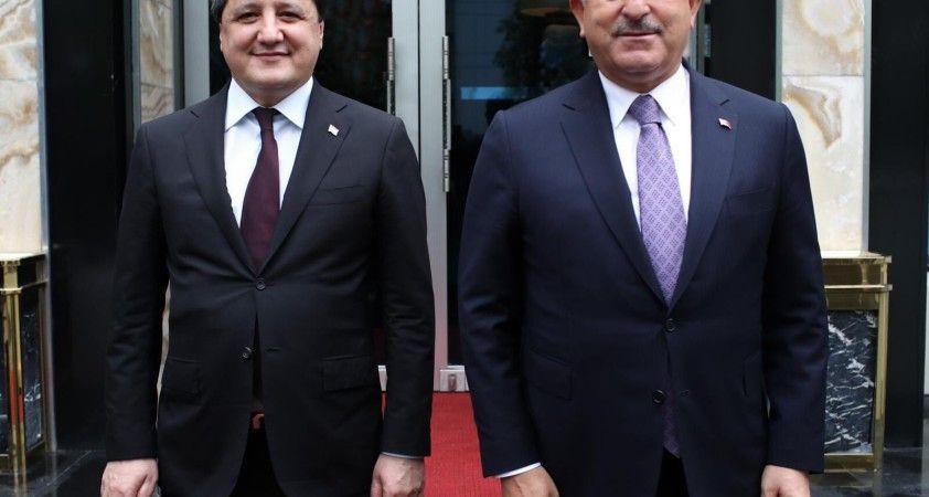 Çavuşoğlu, Tacikistanlı mevkidaşı Muhriddin ile görüştü