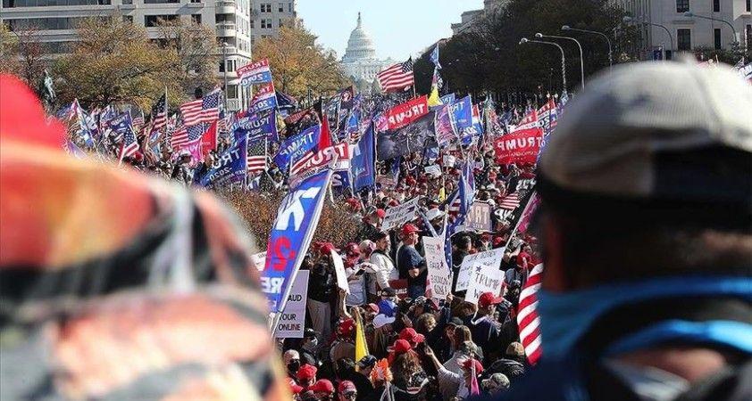 Trump'a destek gösterisinin ardından Washington'da karşıt gruplar arasında arbede yaşandı