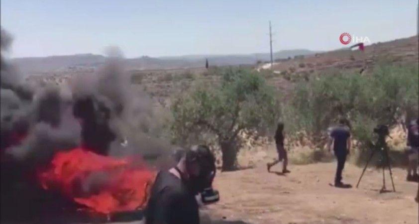 İsrail askerlerinden Nablus'taki protestolara müdahale: 113 Filistinli yaralandı