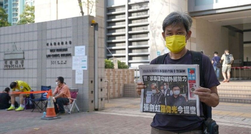 Hong Kong'da muhalif Apple Daily gazetesi cumartesiye kadar kapatılacak