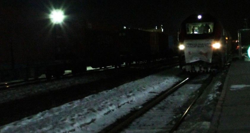 Çin'e bor taşıyan ihracat treni sınır kenti Kars'a geldi