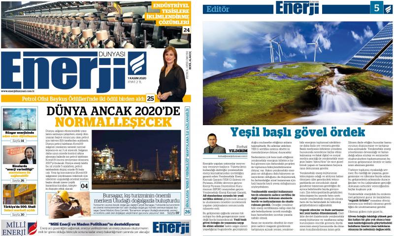 Enerji Dünyası - Kasım 2020 E-GAZETE