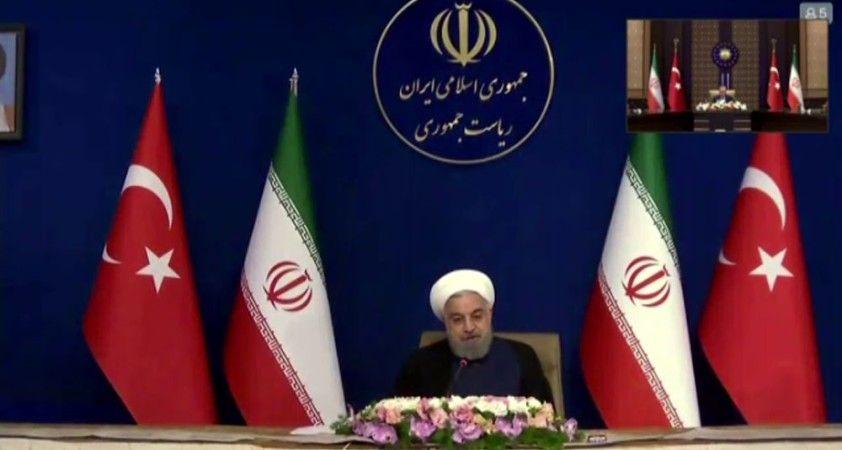"""İran Cumhurbaşkanı Ruhani, """"İran ve Türkiye ilişkisi güçlenmeli"""""""