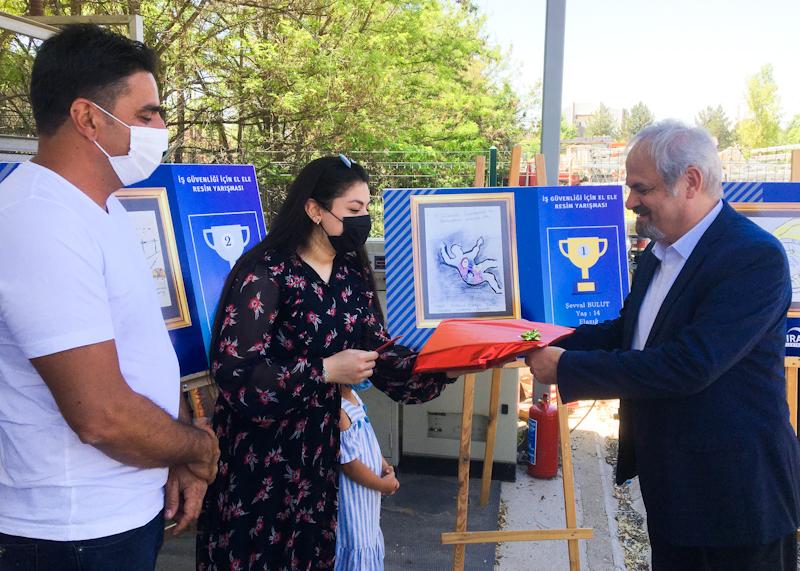 'İş Güvenliği İçin El Ele' resim yarışması sonuçlandı