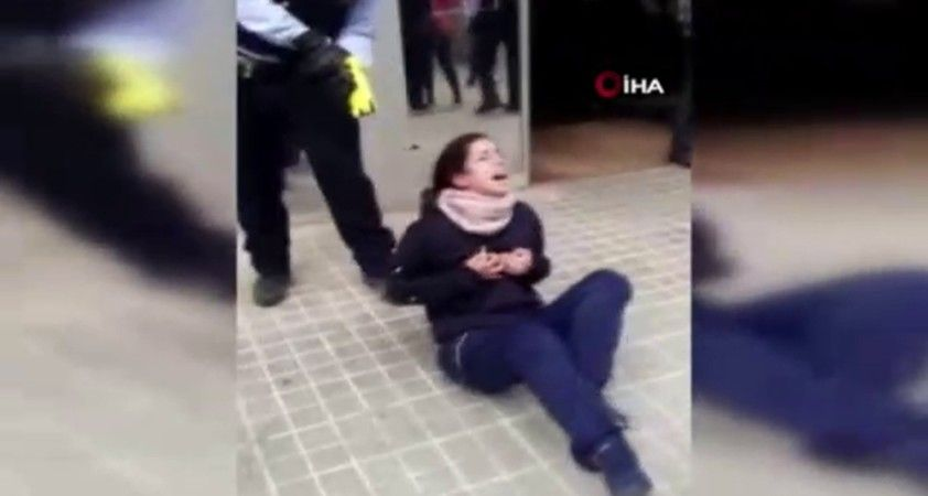 İspanya'da kadına polis şiddeti