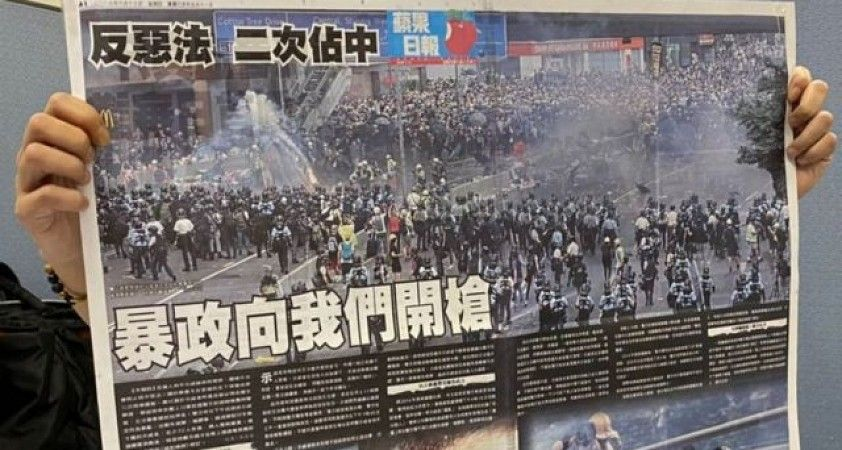 Hong Kong'da muhalif Apple Daily gazetesi kapatıldı