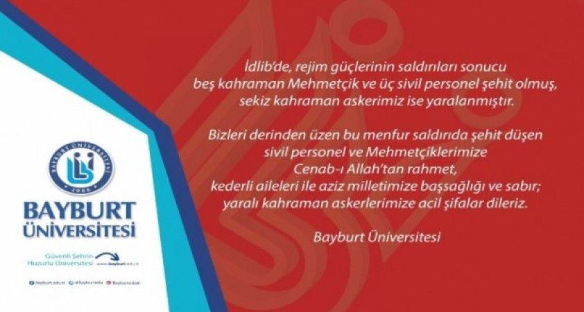 Bayburt Üniversitesi'nden taziye mesajı