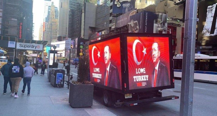Erdoğan sevgisi Times Meydanı'nda: