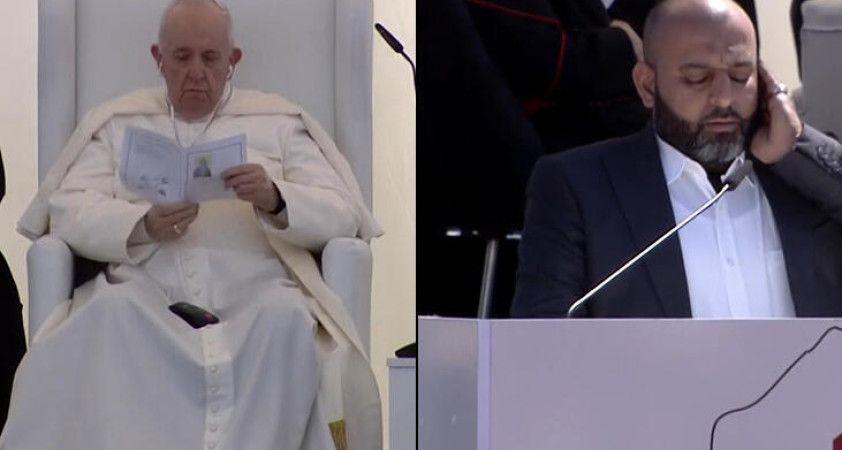 Papa, Irak ziyaretinde Kuran-ı Kerim dinledi