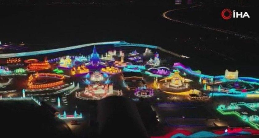Çin'de Harbin Kar ve Buz Dünyası görsel şölen sundu