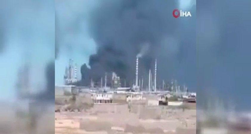 Venezuela'da petrol rafinerisinde yangın
