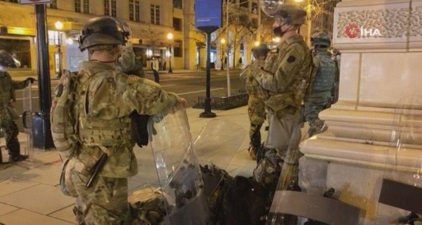 Washington D.C'de Ulusal Muhafızlar gece gündüz nöbet tutuyor