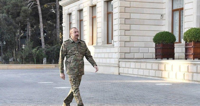 """Aliyev: """"Azerbaycan'ın toprak bütünlüğünü yeniden sağlayacağına eminim"""""""