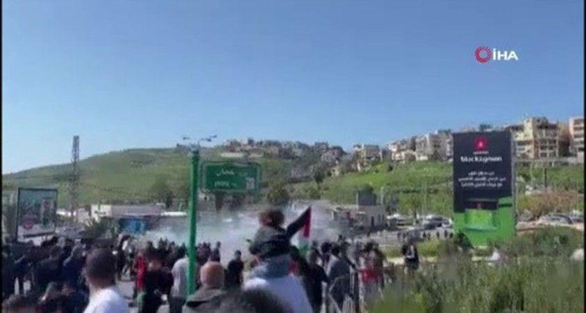 İsrail polisinden şiddet olaylarını protesto eden Filistinlilere müdahale: 11 yaralı